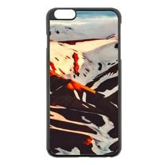 Iceland Landscape Mountains Snow Apple Iphone 6 Plus/6s Plus Black Enamel Case