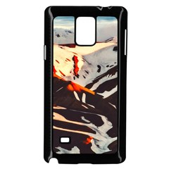 Iceland Landscape Mountains Snow Samsung Galaxy Note 4 Case (black)