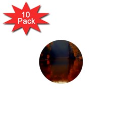 River Water Reflections Autumn 1  Mini Buttons (10 Pack)