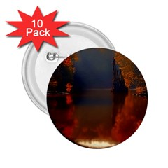 River Water Reflections Autumn 2 25  Buttons (10 Pack)