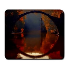 River Water Reflections Autumn Large Mousepads