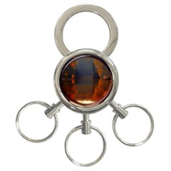 River Water Reflections Autumn 3 Ring Key Chains