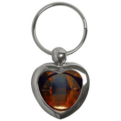 River Water Reflections Autumn Key Chains (heart)