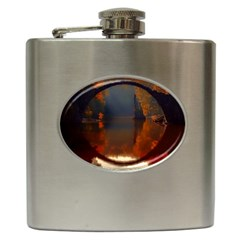 River Water Reflections Autumn Hip Flask (6 Oz)