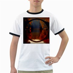 River Water Reflections Autumn Ringer T Shirts