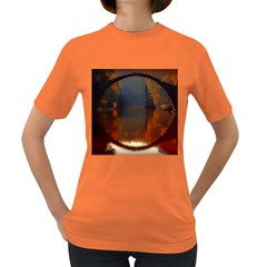 River Water Reflections Autumn Women s Dark T Shirt