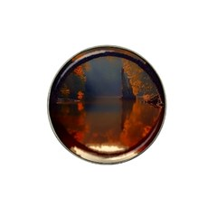River Water Reflections Autumn Hat Clip Ball Marker