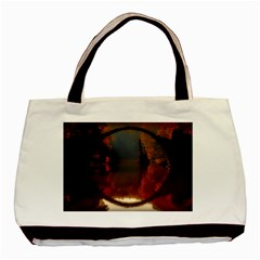 River Water Reflections Autumn Basic Tote Bag