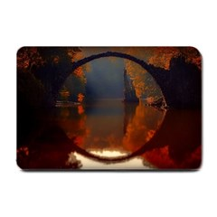 River Water Reflections Autumn Small Doormat
