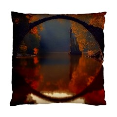 River Water Reflections Autumn Standard Cushion Case (two Sides)