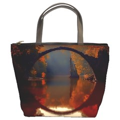 River Water Reflections Autumn Bucket Bags