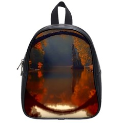 River Water Reflections Autumn School Bag (small)