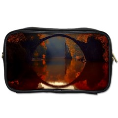 River Water Reflections Autumn Toiletries Bags