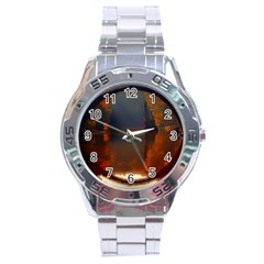 River Water Reflections Autumn Stainless Steel Analogue Watch