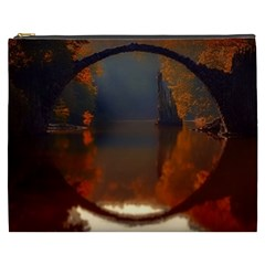 River Water Reflections Autumn Cosmetic Bag (xxxl)