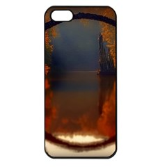 River Water Reflections Autumn Apple Iphone 5 Seamless Case (black)