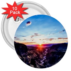 Iceland Landscape Mountains Stream 3  Buttons (10 Pack)