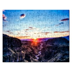 Iceland Landscape Mountains Stream Rectangular Jigsaw Puzzl