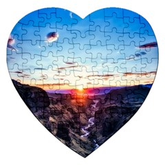 Iceland Landscape Mountains Stream Jigsaw Puzzle (heart)