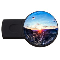 Iceland Landscape Mountains Stream Usb Flash Drive Round (4 Gb)
