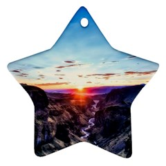 Iceland Landscape Mountains Stream Star Ornament (two Sides)