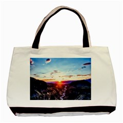 Iceland Landscape Mountains Stream Basic Tote Bag (two Sides)