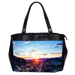 Iceland Landscape Mountains Stream Office Handbags (2 Sides)