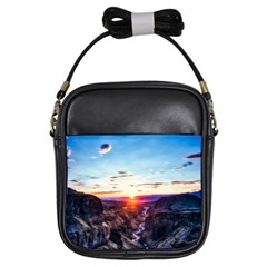 Iceland Landscape Mountains Stream Girls Sling Bags