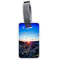 Iceland Landscape Mountains Stream Luggage Tags (two Sides)