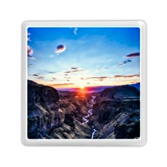 Iceland Landscape Mountains Stream Memory Card Reader (square)