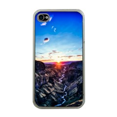 Iceland Landscape Mountains Stream Apple Iphone 4 Case (clear)