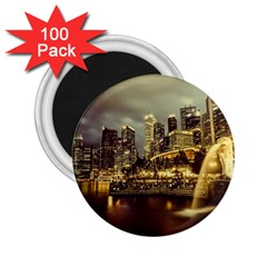 Singapore City Urban Skyline 2 25  Magnets (100 Pack)