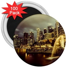 Singapore City Urban Skyline 3  Magnets (100 Pack)
