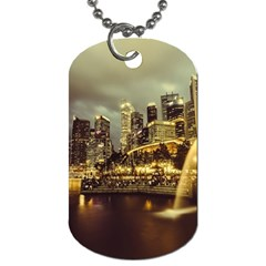 Singapore City Urban Skyline Dog Tag (one Side)
