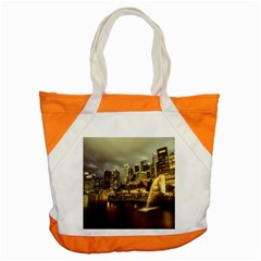 Singapore City Urban Skyline Accent Tote Bag
