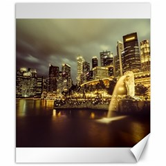 Singapore City Urban Skyline Canvas 8  X 10