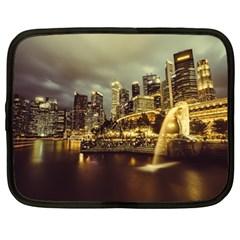 Singapore City Urban Skyline Netbook Case (large)
