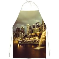 Singapore City Urban Skyline Full Print Aprons