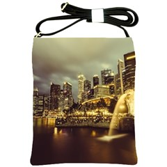 Singapore City Urban Skyline Shoulder Sling Bags