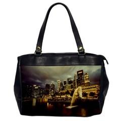 Singapore City Urban Skyline Office Handbags