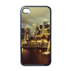 Singapore City Urban Skyline Apple Iphone 4 Case (black)