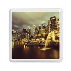 Singapore City Urban Skyline Memory Card Reader (square)