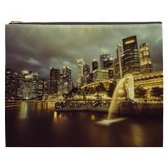 Singapore City Urban Skyline Cosmetic Bag (xxxl)
