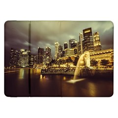 Singapore City Urban Skyline Samsung Galaxy Tab 8 9  P7300 Flip Case