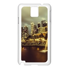 Singapore City Urban Skyline Samsung Galaxy Note 3 N9005 Case (white)