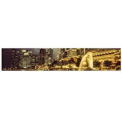 Singapore City Urban Skyline Large Flano Scarf