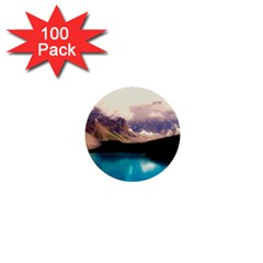 Austria Mountains Lake Water 1  Mini Buttons (100 Pack)