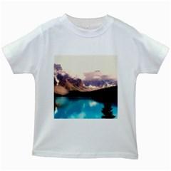 Austria Mountains Lake Water Kids White T Shirts