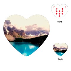 Austria Mountains Lake Water Playing Cards (heart)