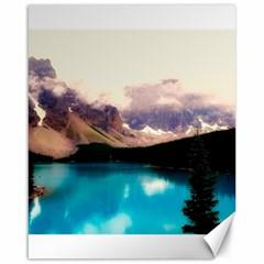 Austria Mountains Lake Water Canvas 16  X 20